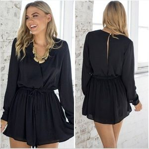 Pants - Black romper